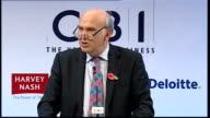 Vince Cable speech Vince Cable speech continued SOT And a further problem that previous governments seldom needed to think about – maintaining a...