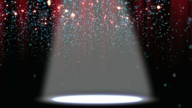 Confetti Glitter Spotlight Background Loop