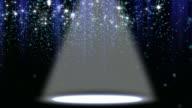 Konfetti Glitter Spotlight Hintergrund Loop