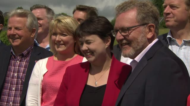'Confidence and supply' agreement struck between Conservatives and the Democratic Unionist Party SCOTLAND EXT Various of Ruth Davidson MP posing with...