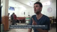 Activists claim at least 800 people have been killed by government air strikes on Douma Hospital doctor interview SOT we have only 4 doctors for 450...