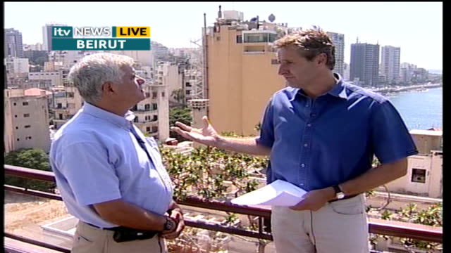 Day 17 shelling of Southern Lebanon continues LIVE LEBANON Beirut EXT Jamil Mroue interview SOT the gates have hell have broken loose on us/...