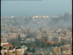 Day 27 Israeli attacks continue across southern Lebanon EXT Emile Lahoud with James Mates standing in Presidential garden High angle shot of smoke...