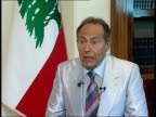Day 27 Israeli attacks continue across southern Lebanon INT Emile Lahoud interview SOT We feel that especially the British population is with Lebanon...