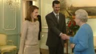 Plight of people living in Aleppo LIB / TX ENGLAND London Buckingham Palace INT Bashar alAssad and Asma alAssad along to meet Queen Elizabeth II...