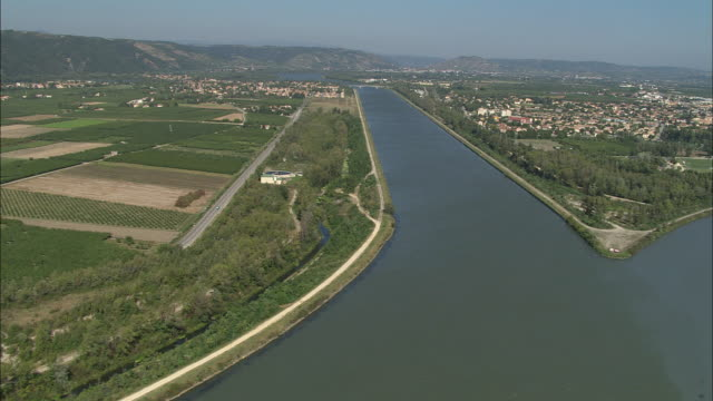 Confluence Of Rhone And Isere Rivers