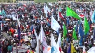 Congolese opposition parties gathered for a rally near the parliament in Kinshasa on Sunday demanding that the regime respect the constitution and...