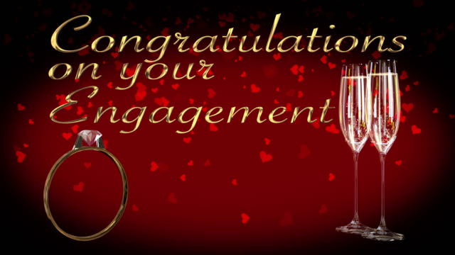 Congratulations on your engagement with engagement ring seamless loop