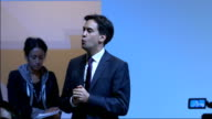 Ed Miliband gives speech Miliband speech SOT We're 159th in league table for investment Banks businesses serving banks not banks serving our...