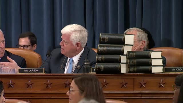 Connecticut Congressman John Larson says at a legislative markup on comprehensive tax reform by the House Ways and Means Committee that the preceding...