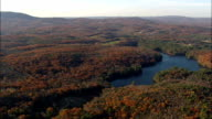 Connecticut river and state border - Aerial View - New York,  Washington County,  United States