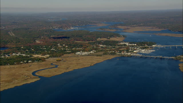 Connecticut River Estuary  - Aerial View - Connecticut,  Middlesex County,  United States