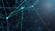 connection network concept,blue background
