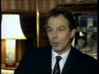 Conservative attack POOL Tony Blair MP interviewed SOT Will not let this antiEuropean nonsense destort the true national interest of our country /...