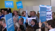 Conservative candidate Craig Mackinlay charged over 2015 general election expenses London Twickenham INT Various of Theresa May speaking at campaign...