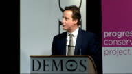Conservative leader speech at launch of 'Making progressive conservatism a reality' project ENGLAND London Demos PHOTOGRAPHY * * David Cameron MP...