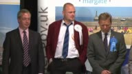 Conservative MP Craig Mackinlay appears in court on election expenses charges LIB / 852015 Kent Margate INT Returning officer reading out results of...