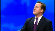 David Cameron speech David Cameron speech SOT Oh yes I do understand Believe me I do understand and I am disgusted by the idea that we should aim for...