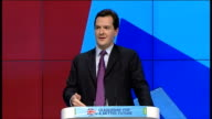 George Osborne speech Osborne speech SOT The fact Britain can is thanks to the resolve of this Party And we are generous enough to say this it is...