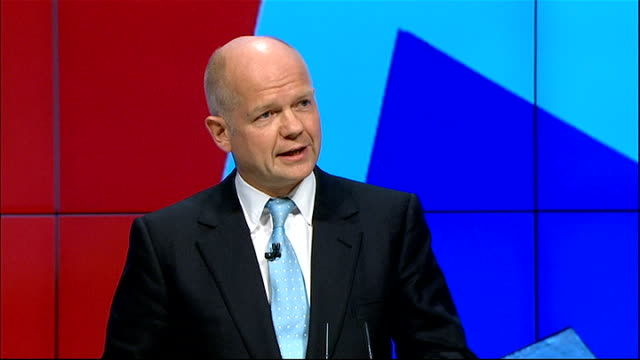 William Hague speech Hague speech SOT Yes it is different from governing on our own and yes it means we all have some policies we cannot implement...