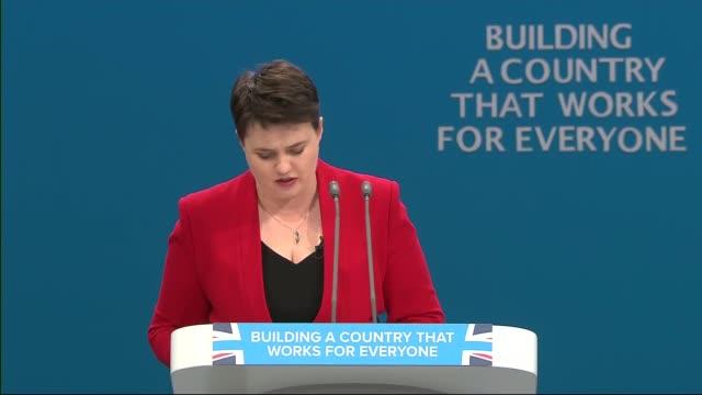 opening day Ruth Davidson speech Ruth Davidson MSP speech continued SOT / cutaways of audience applauding