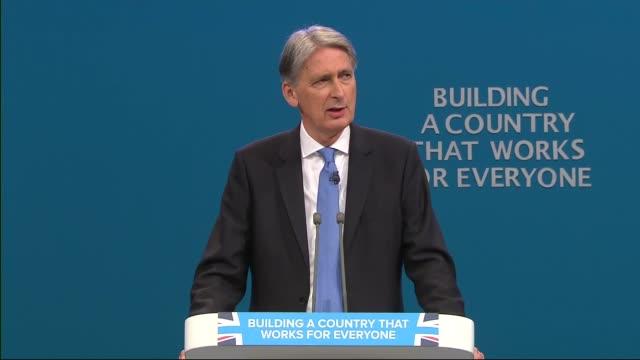 Philip Hammond speech ENGLAND Manchester INT Philip Hammond MP speech SOT