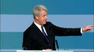 Andrew Lansley speech ENGLAND Midlands Birmingham INT Charles Heslop introducing Andrew Lansley MP / Andrew Lansley MP along to podium and speech SOT...