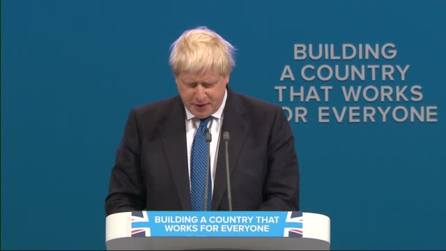 Boris Johnson speech ENGLAND Manchester INT Boris Johnson MP speech SOT