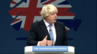 Boris Johnson speech ENGLAND Manchester INT Boris Johnson speech SOT Good morning everyone Good God … good morning everybody thank you very much...