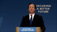 David Cameron speech Cameron speech SOT Who do you trust the party of big debt big spending big borrowing or the party our Party of the first pay...