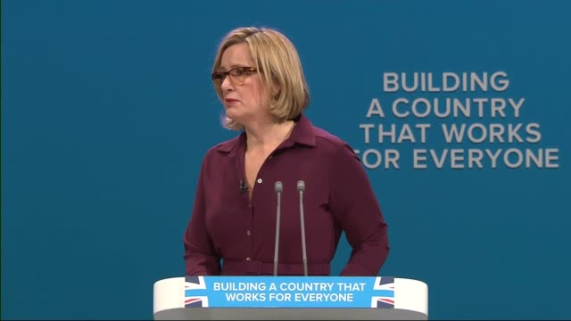 Day 3 Amber Rudd speech Amber Rudd speech continued SOT