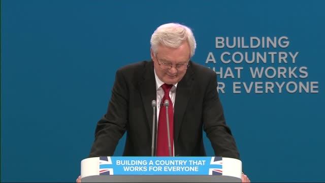 Day 3 ENGLAND Manchester INT David Davis MP speech SOT