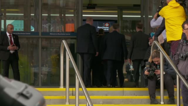 Day 4 arrivals ENGLAND Manchester EXT Jeremy Hunt MP arriving / Boris Johnson MP arriving / Sajid Javid MP arriving / Philip Hammond MP arriving /...