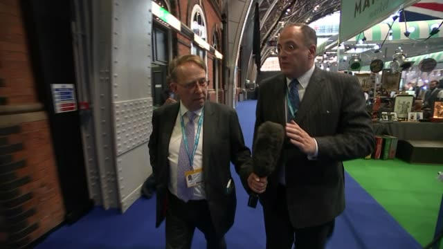 opening day Theresa May attempts to brush off Brexit divisions Manchester Central Convention Complex INT Bob Stewart MP interview SOT [should Theresa...