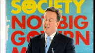 David Cameron 'Building the Big Society' speech David Cameron speech continued SOT The vision we've been setting out here today is unashamedly...