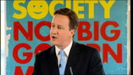 David Cameron 'Building the Big Society' speech David Cameron speech continued SOT It doesn't matter so much what the long term impact is as long as...