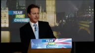 David Cameron speech ENGLAND Oxfordshire Woodstock Oxford School of Drama INT David Cameron MP speech SOT It's a brand new year A new decade is fresh...
