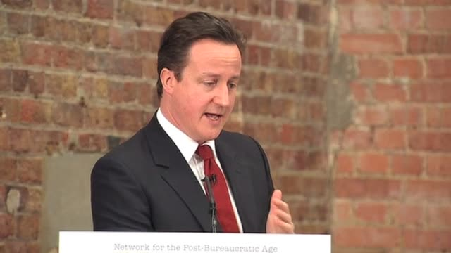 Conservative party leader David Cameron comments on accusations of Gordon Brown bullying staff London 22 February 2010