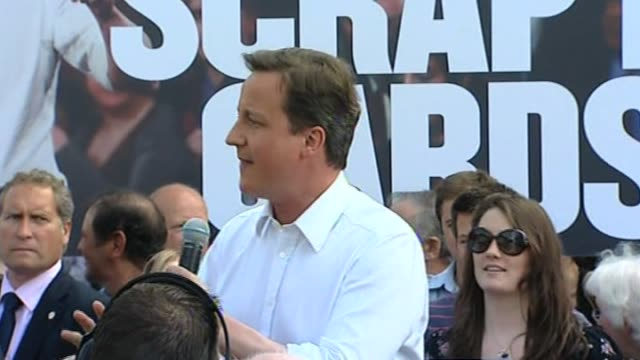Conservative Party leader David Cameron on campaign trail ahead of general election on 6 May UK 27 April 2010