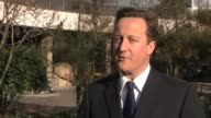 Conservative Party leader David Cameron on decision to hold leaders debates in run up to general election UK 2010