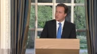Conservative Party leader David Cameron on how coalition government plan to tackle deficit following results of the general election on 6 May UK 7...