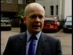 Conservative Party Policy Meeting ENGLAND North London William Hague MP sitting at table for meeting of shadow cabinet to discuss Conservative party...