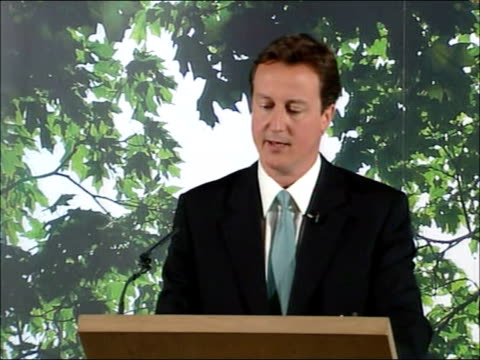 David Cameron 'Anarchy in the UK' speech part 1 ENGLAND Lancashire Darwen PHOTOGRAPHY * * David Cameron MP at podium delivering speech 'Anarchy in...