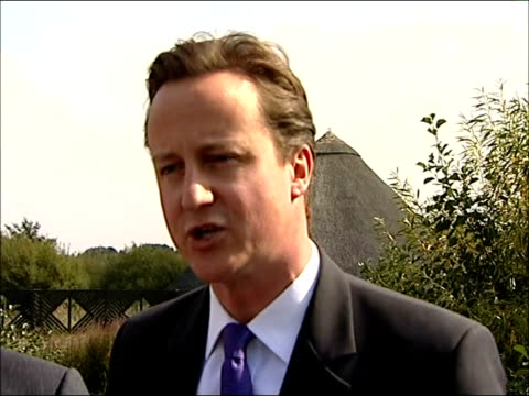David Cameron interview ENGLAND London Barnes Wetland Centre PHOTOGRAPHY *** David Cameron MP speech SOT Two years ago I promised Conservative Party...