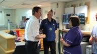Conservatve Party leader David Cameron visits NHS hospital UK 27 February 2010
