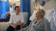 Conservatve Party leader David Cameron visits patients at NHS hospital UK 27 February 2010