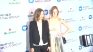 Constance Jablonski and Arizona Muse at Warner Music Group 2014 Grammy Celebration at Sunset Tower Hotel on in West Hollywood California