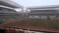 Construction at Arena Pantanal in Cuiaba Brazil continues The host city of Cuiaba is among the most under the threat of not making the 2014 World Cup...
