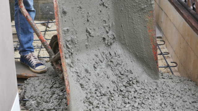 construction ,cement pouring