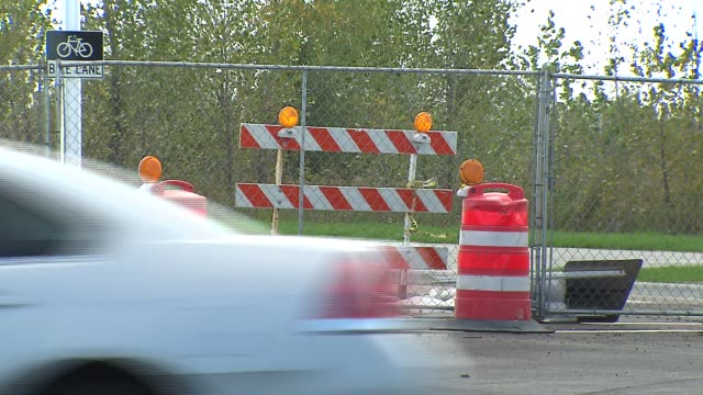 Construction Cones And Gates on October 14 2013 in Chicago Illinois